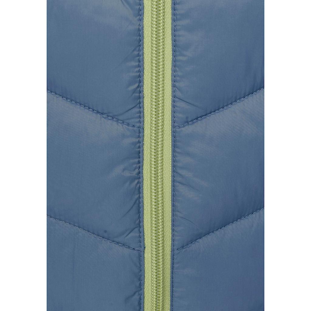 KangaROOS Steppjacke, mit kontrastfarbenen Details
