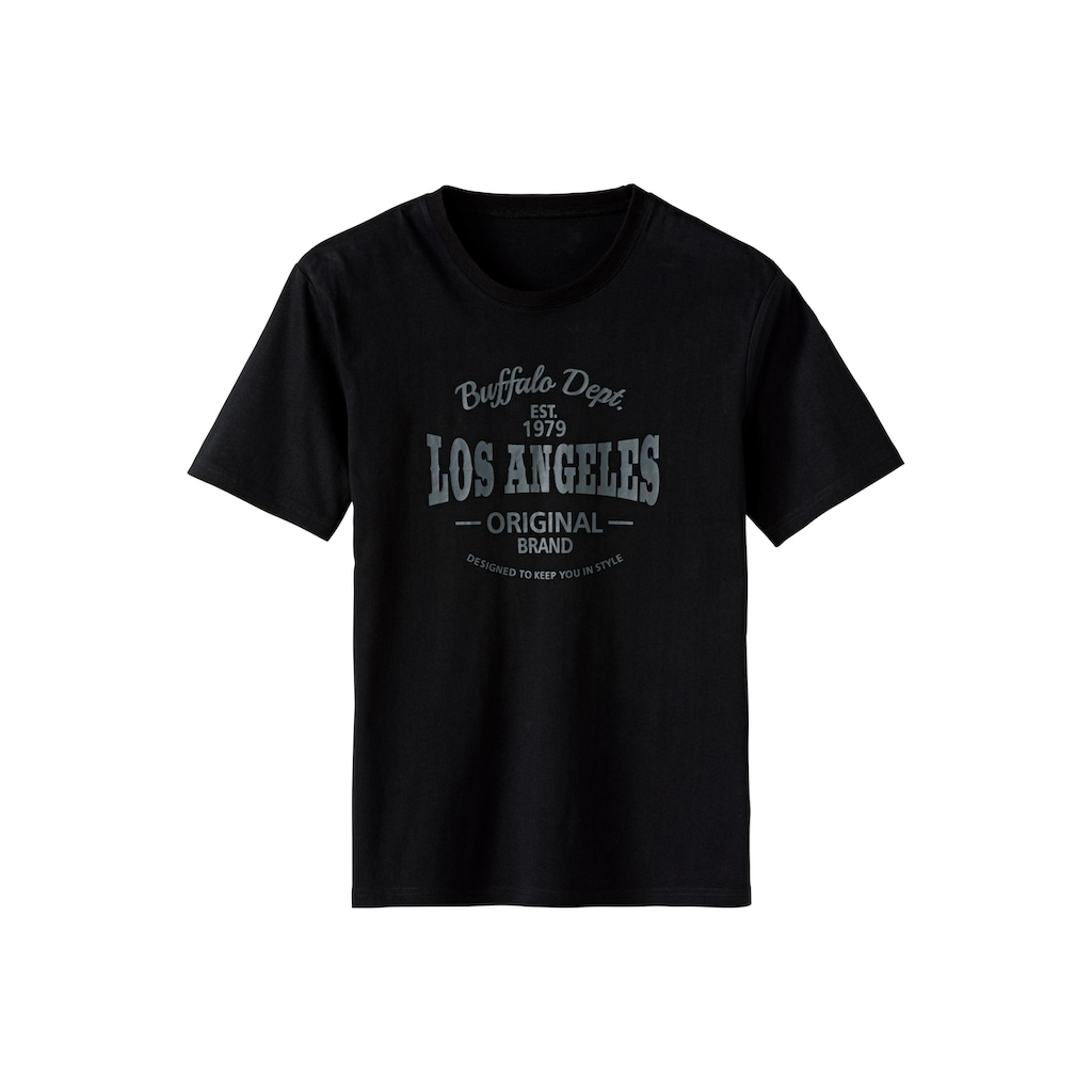 Buffalo T-Shirt »Homewear«, mit Los Angeles Print vorn