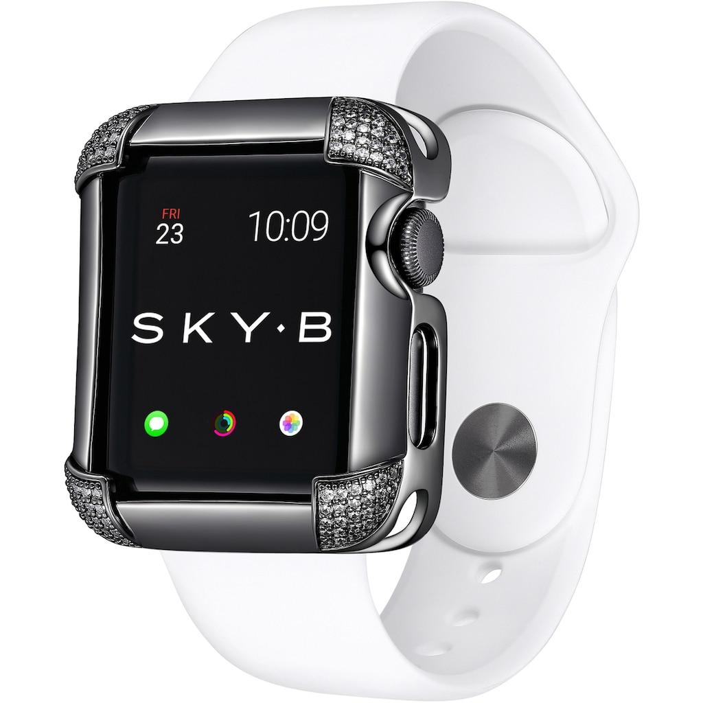 SKY•B Smartwatch-Hülle »PAVÉ CORNERS, W002X40, 40 mm«, Watch