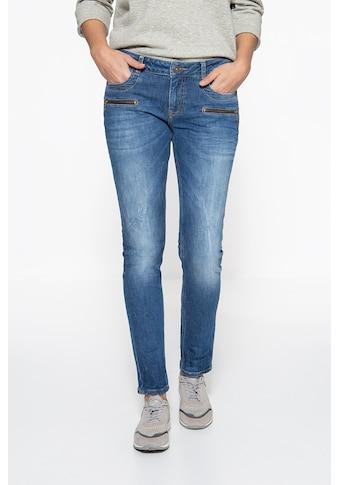 ATT Jeans Slim-fit-Jeans »Lindsey«, mit Zier-Reißverschlüssen kaufen