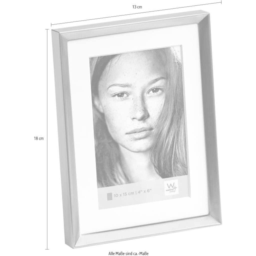 Home affaire Portraitrahmen »Emma«, Fotorahmen, mit Passepartout, grau