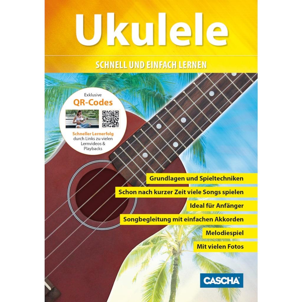 Cascha Ukulele »Sopran, Cappuccino«, mit Tasche, Übungsheft, Plektren und Stimmgerät