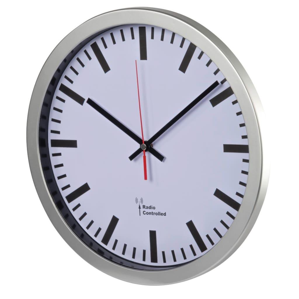 Hama Funkuhr Bahnhofsuhr Funkwanduhr 30 cm Durchmesser DCF Funk