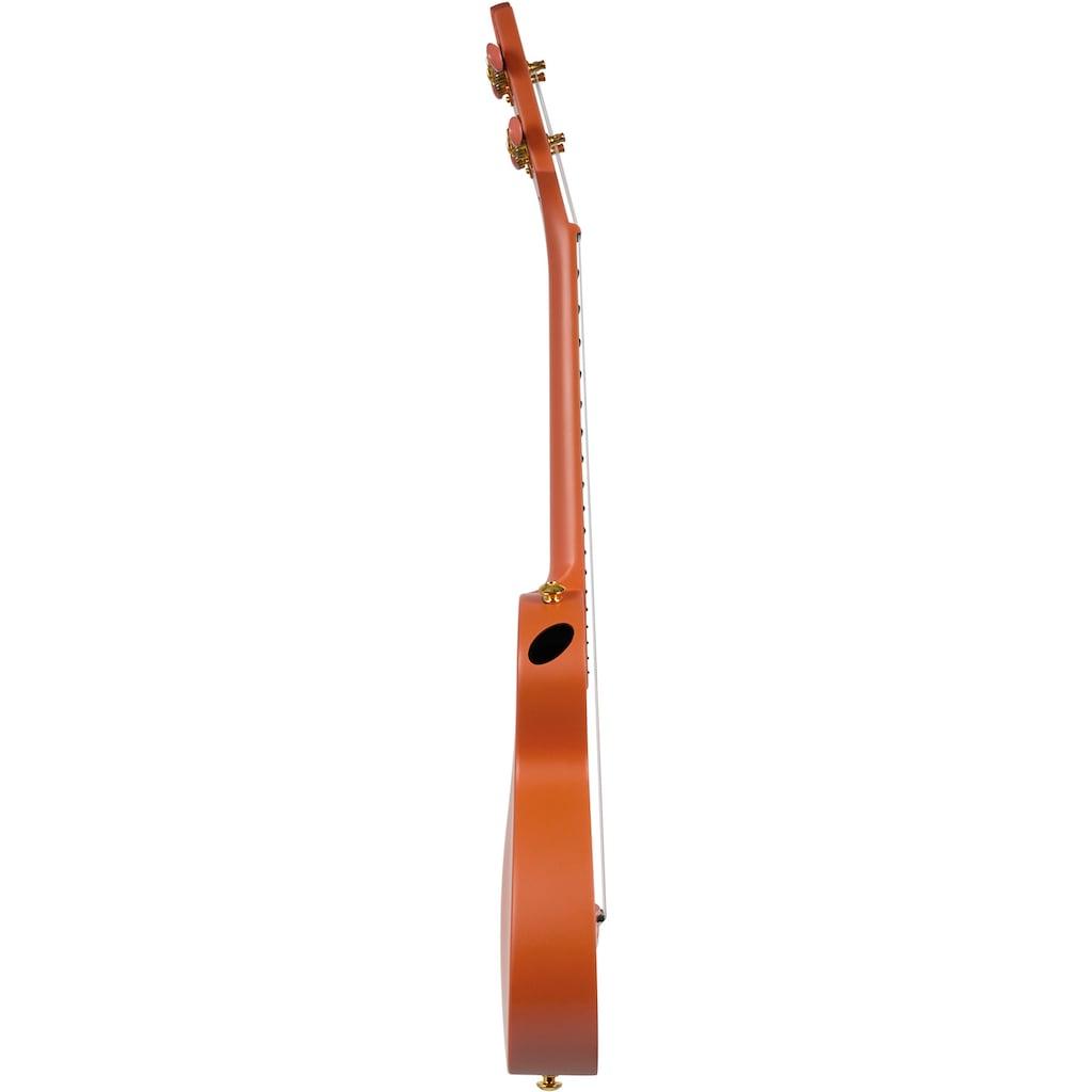 Cascha Ukulele »Carbon Fibre, Orange«, mit Soft-Case, Ukulelengurt, Plektren und Stimmgerät