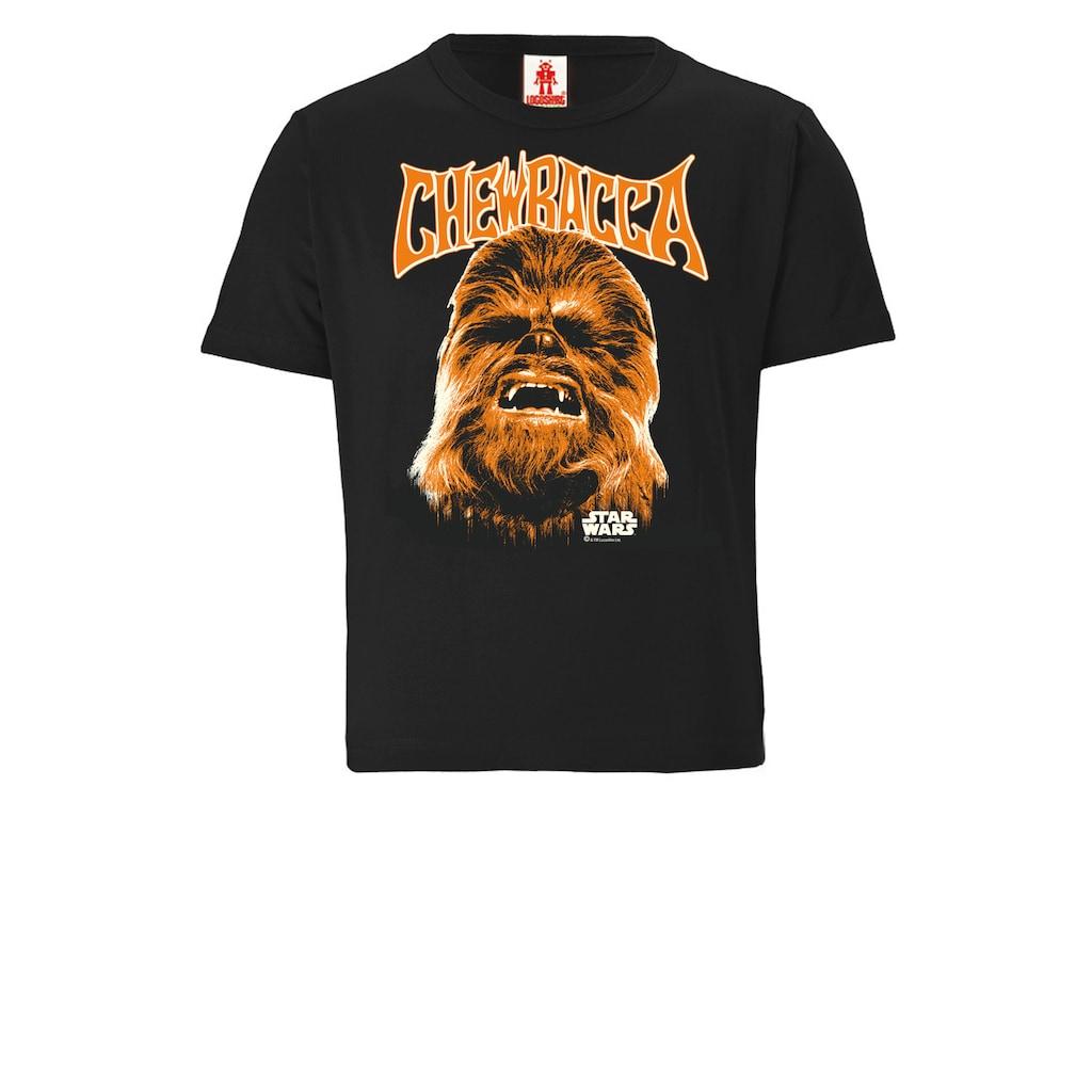 LOGOSHIRT T-Shirt »Star Wars - Chewbacca Face«, mit Wookiee-Frontprint