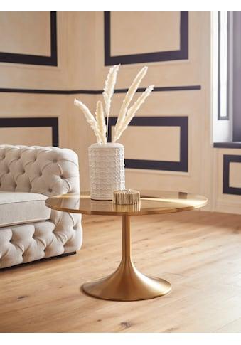 Guido Maria Kretschmer Home&Living Couchtisch »Goldless«, 1,8 cm starke Tischplatte aus Edelstahl, rund kaufen