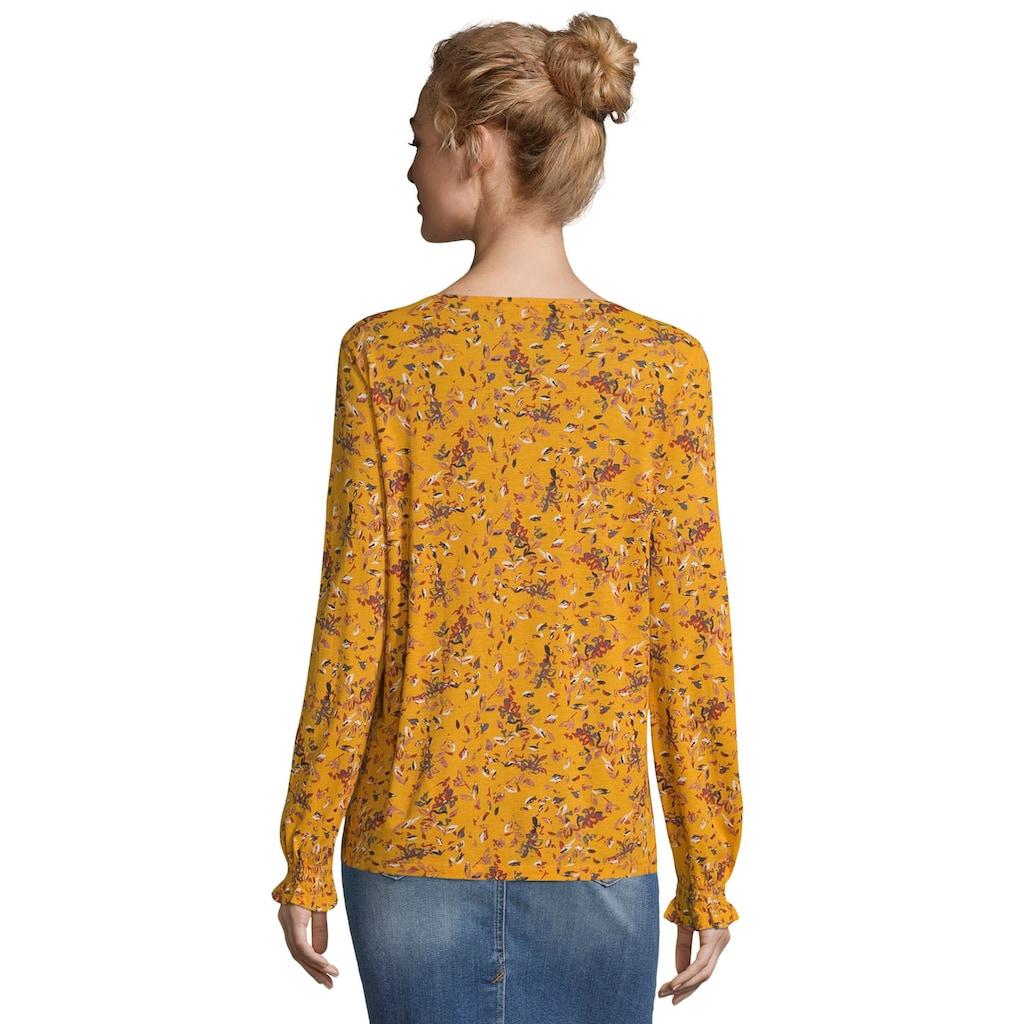 TOM TAILOR Shirtbluse, mit wunderschönem, romantischem Blüten-Alloverprint