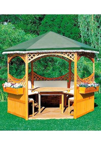 promadino Holzpavillon »Palma«, (Set), BxT: 308x308 cm, inkl. Brüstung kaufen
