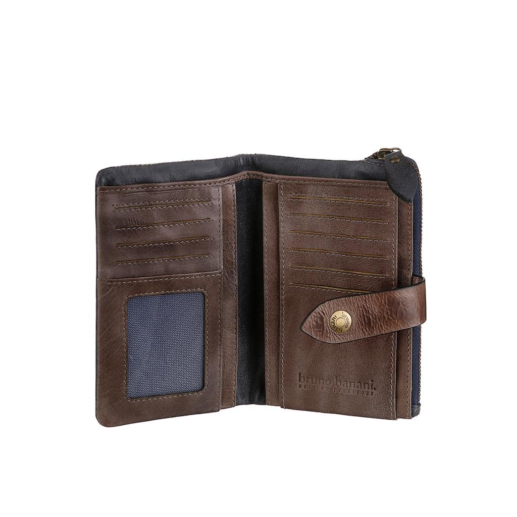 Bruno Banani Geldbörse, aus Leder, mit praktischer Einteilung