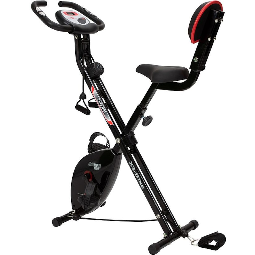 Christopeit Sport® Heimtrainer »Christopeit X 3 Bike«, Klappheimtrainer mit Arm- Bein Seilzug System