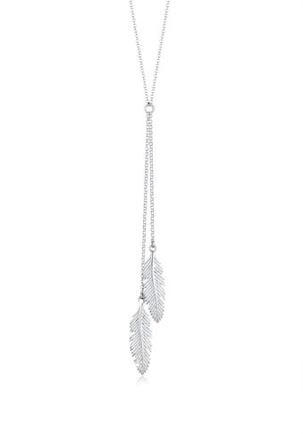 Elli Kette mit Anhänger »Feder Y-Kette Boho Trend 925 Silber« kaufen