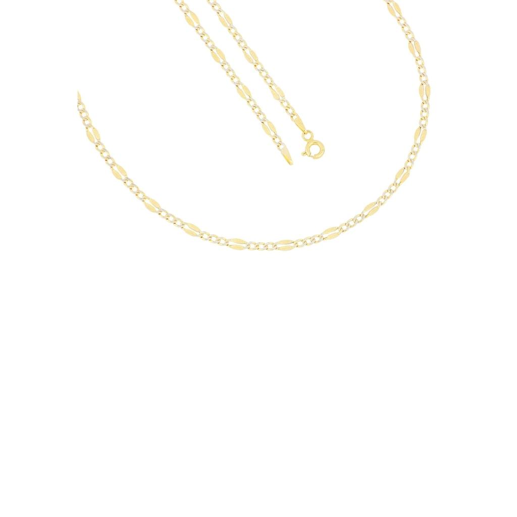 Firetti Goldkette »in Figarokettengliederung, Panzerkettenelemente mit Diamantschnitte, 2,8 mm, glänzend«