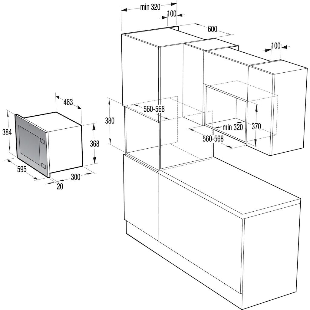 GORENJE Einbau-Mikrowelle »BM171E2X«, Grill-Mikrowelle, 1050 W