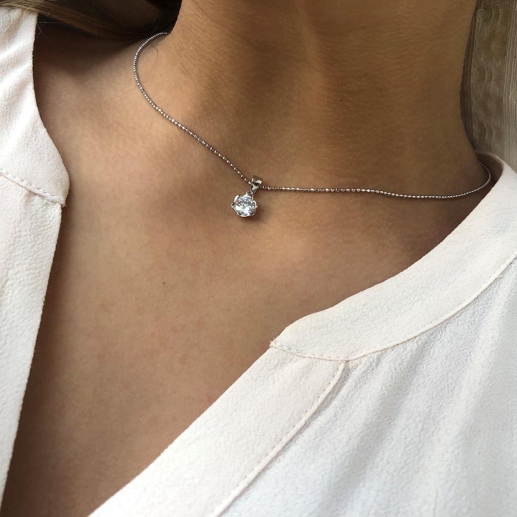 AILORIA Kette mit Anhänger »ENVIE Halskette mit Anhänger in Blumenform«, 925 Sterling Silver