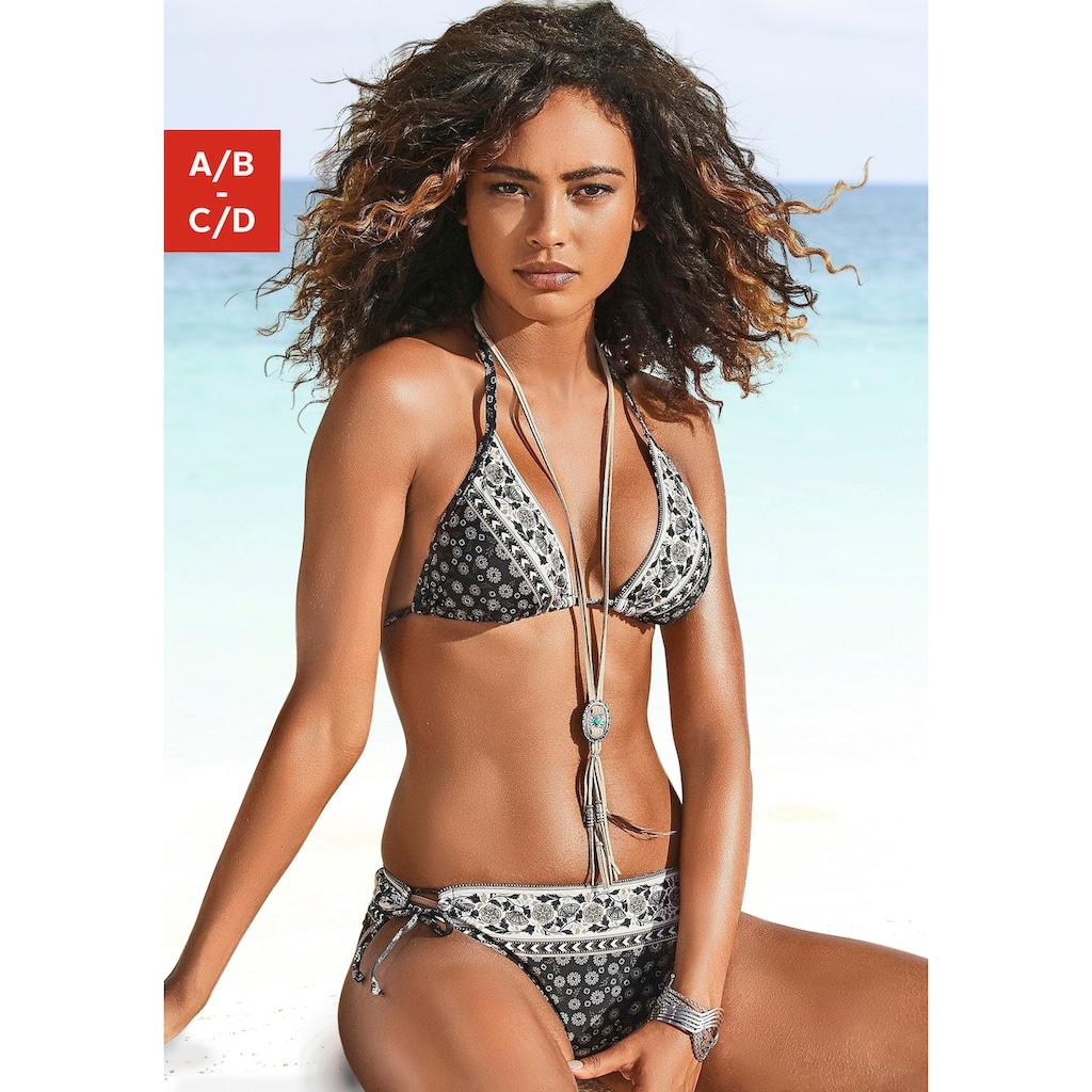 JETTE Triangel-Bikini, mit Hose zum Binden