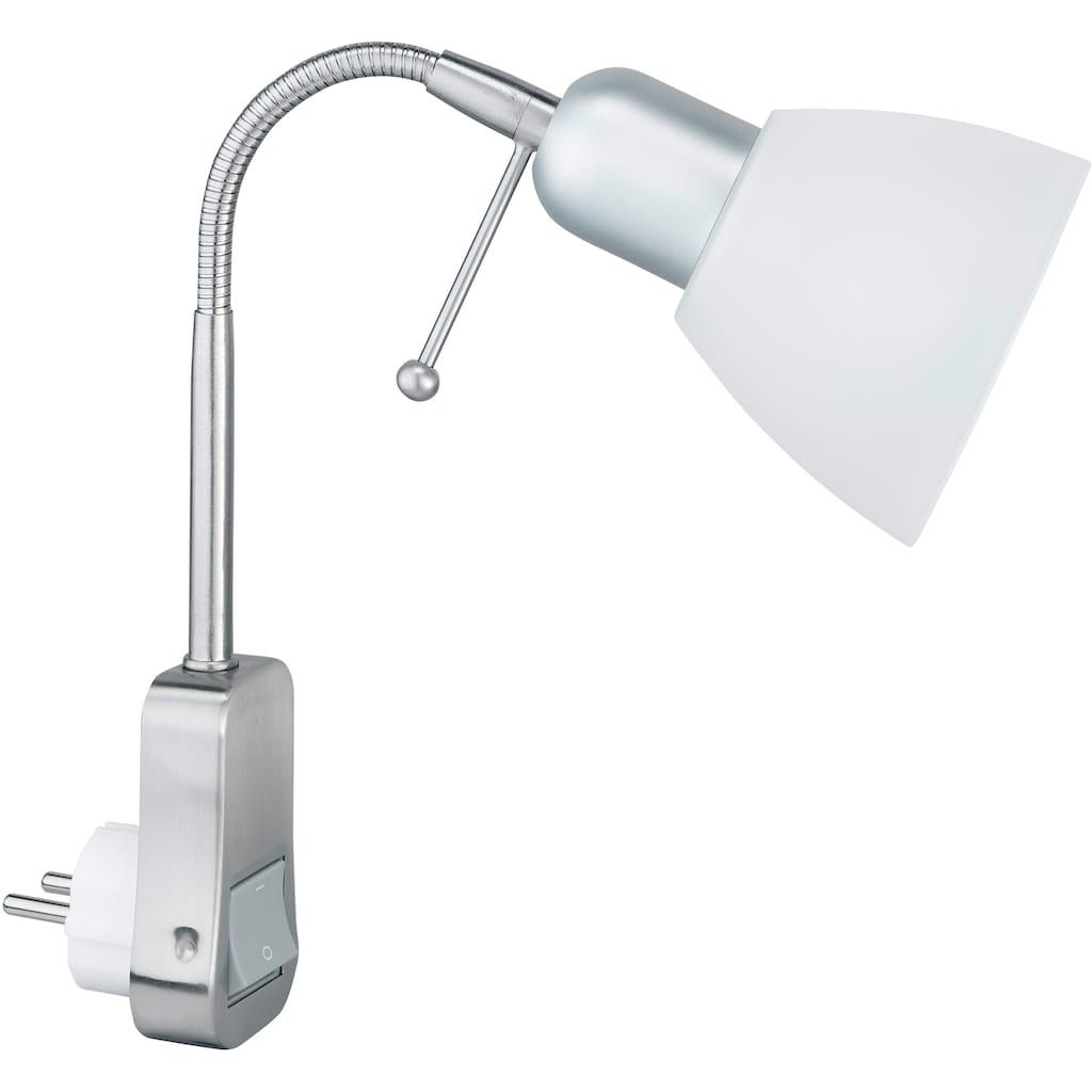 TRIO Leuchten Steckdosenleuchte »Ligara«, mit Flexarm, Schalter, Leuchtmittel tauschbar