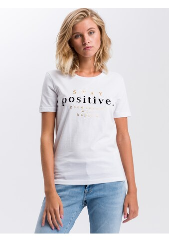 Cross Jeans® T-Shirt »55727«, Mit Mottoschriftzug kaufen