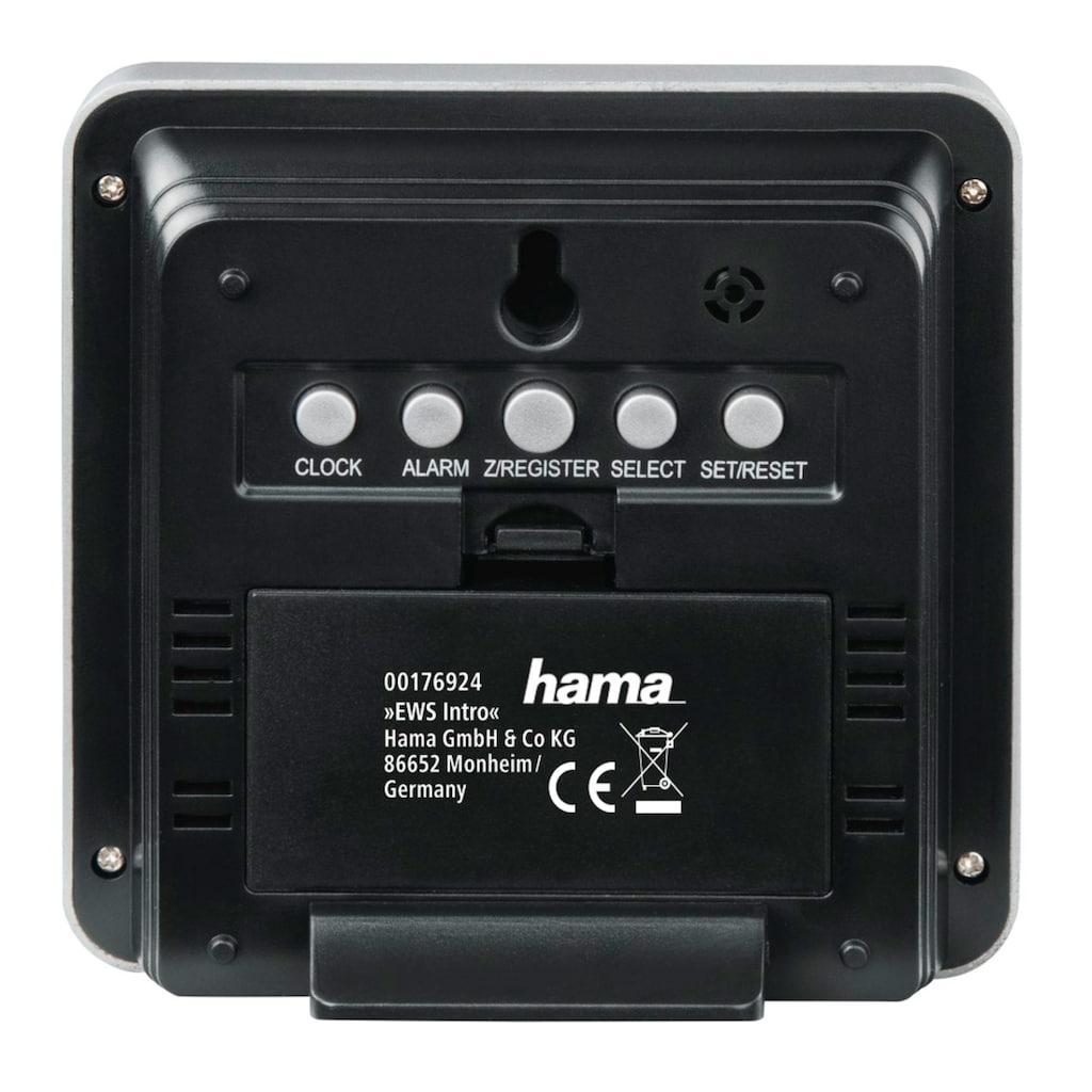 Hama Wetterstation mit Außensensor, Funk, Innen-/Außentemperatur