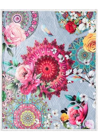 hip Plaid »Siara«, mit Mandalas und Rosenblüten kaufen