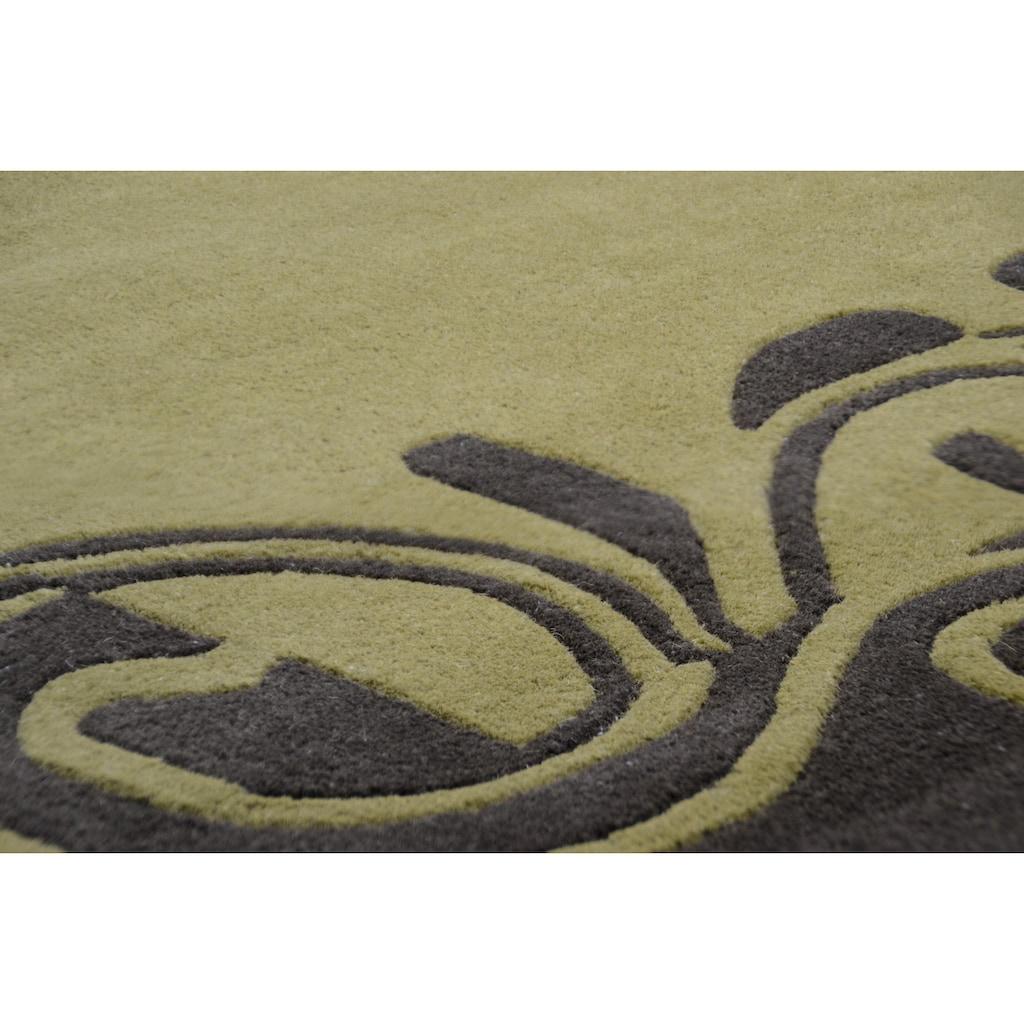 THEKO Wollteppich »Hawai 6188«, rechteckig, 14 mm Höhe, reine Schurwolle, mit Bordüre, Wohnzimmer