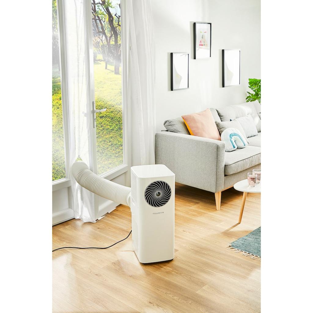 Rowenta 3-in-1-Klimagerät »Turbo Cool+ AU5020«, Mobile Klimaanlage, Ventilator, Luftentfeuchter in Einem; Fensterdichtung, Schlauch & Fernbedienung inklusive; Eco-Modus