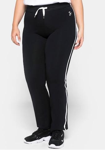 Sheego Jazzpants, mit seitlichen Kontraststreifen kaufen
