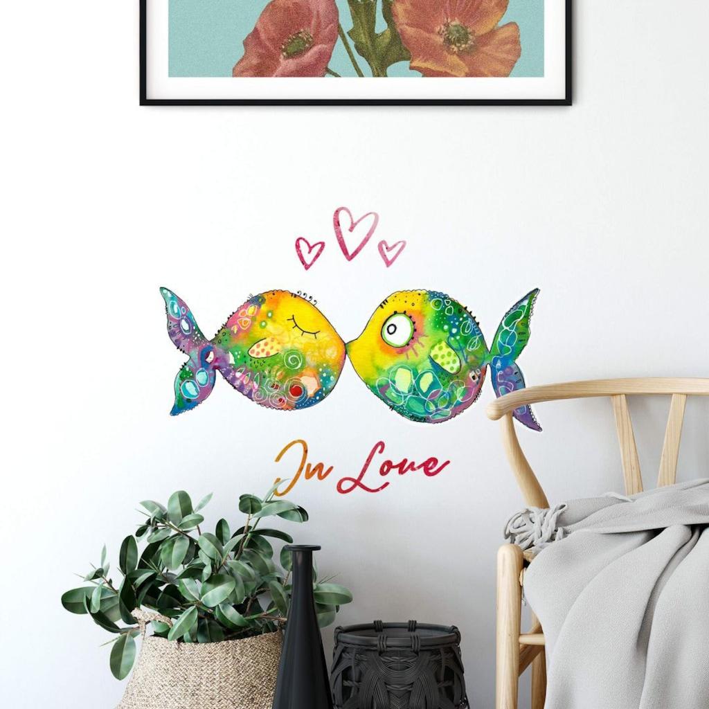 Wall-Art Wandtattoo »Lebensfreude - Verliebte Fische«