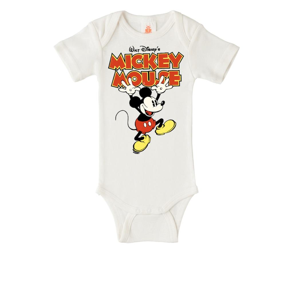 LOGOSHIRT Baby-Body mit Mickey Mouse-Print