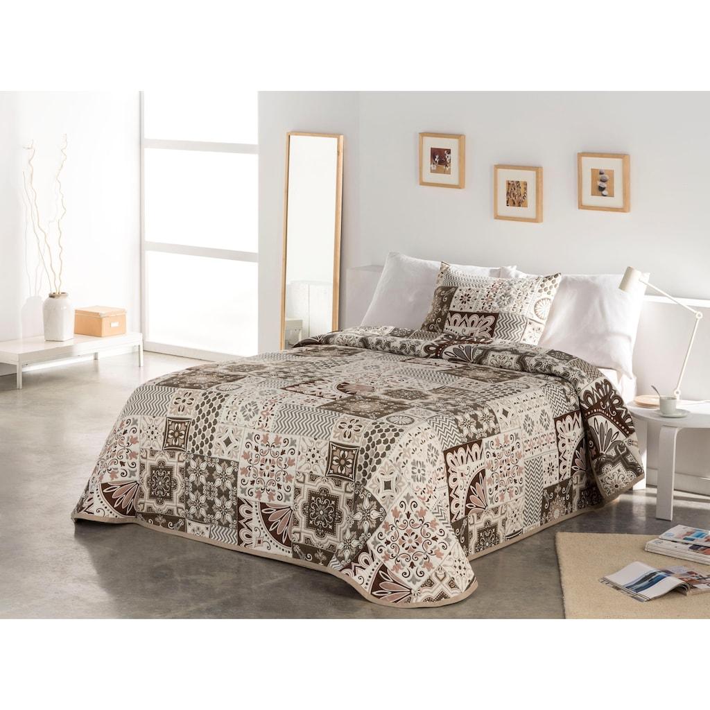 Home affaire Tagesdecke »Sofia«, mit Ornamenten im Patchworkdesign