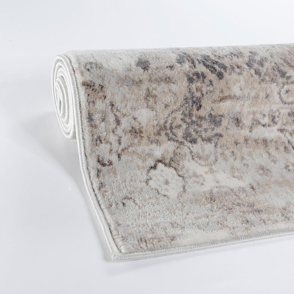 Sehrazat Teppich »Montana 3714«, rechteckig, 8 mm Höhe, Kurzflor, Vintage Design, Wohnzimmer