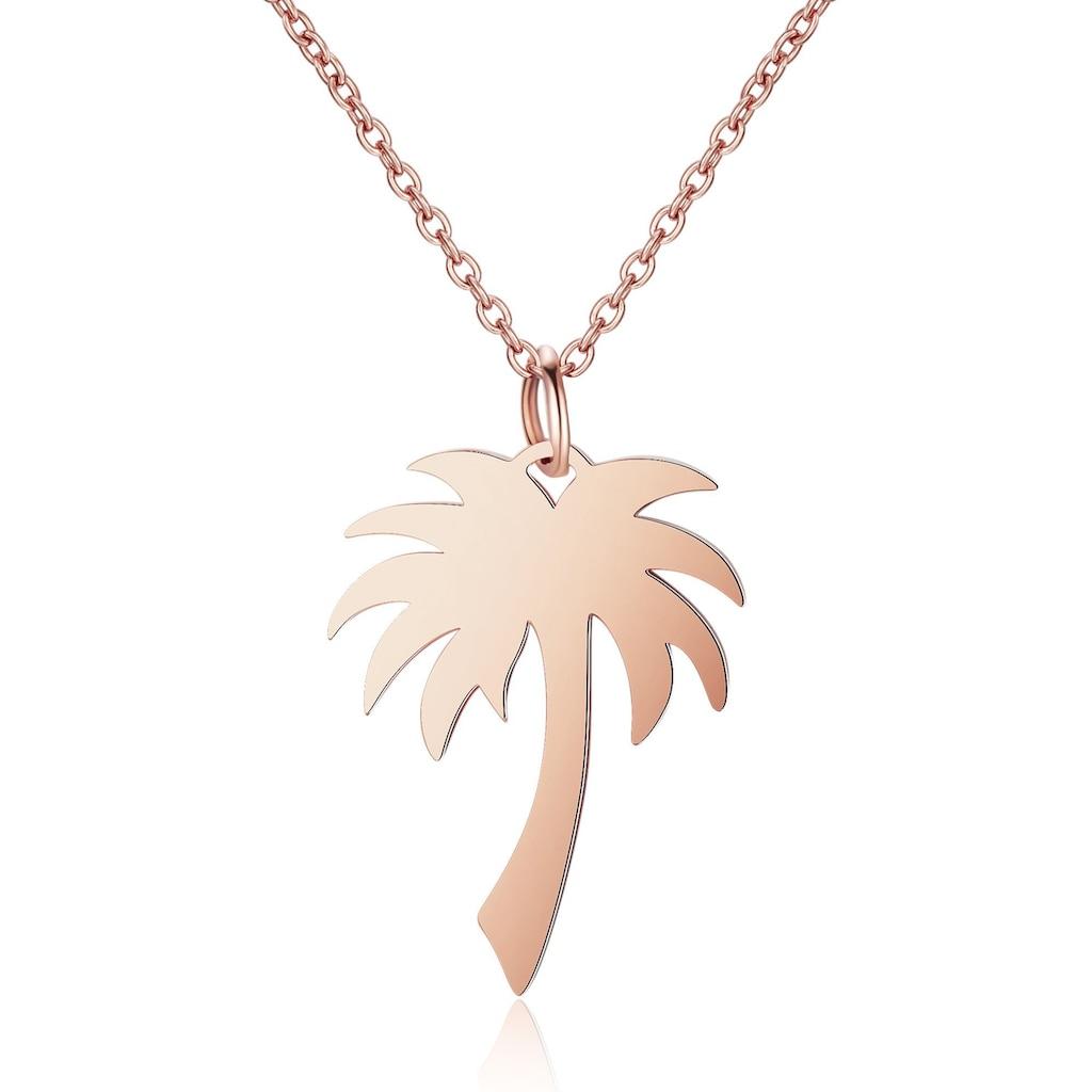 AILORIA Kette mit Anhänger »PALMIER Halskette aus Edelstahl mit Palmen-Anhänger«, Hochglanz-Finish