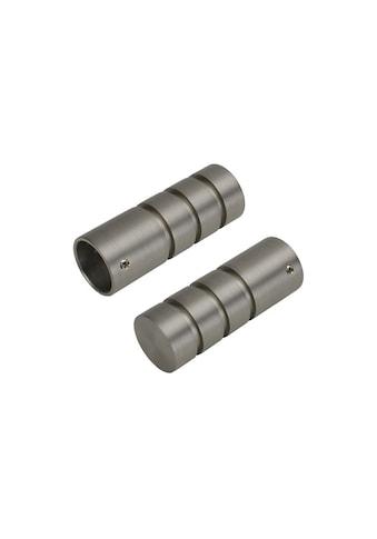 Liedeco Gardinenstangen-Endstück »Zylinder mit Rille«, 20 mm kaufen