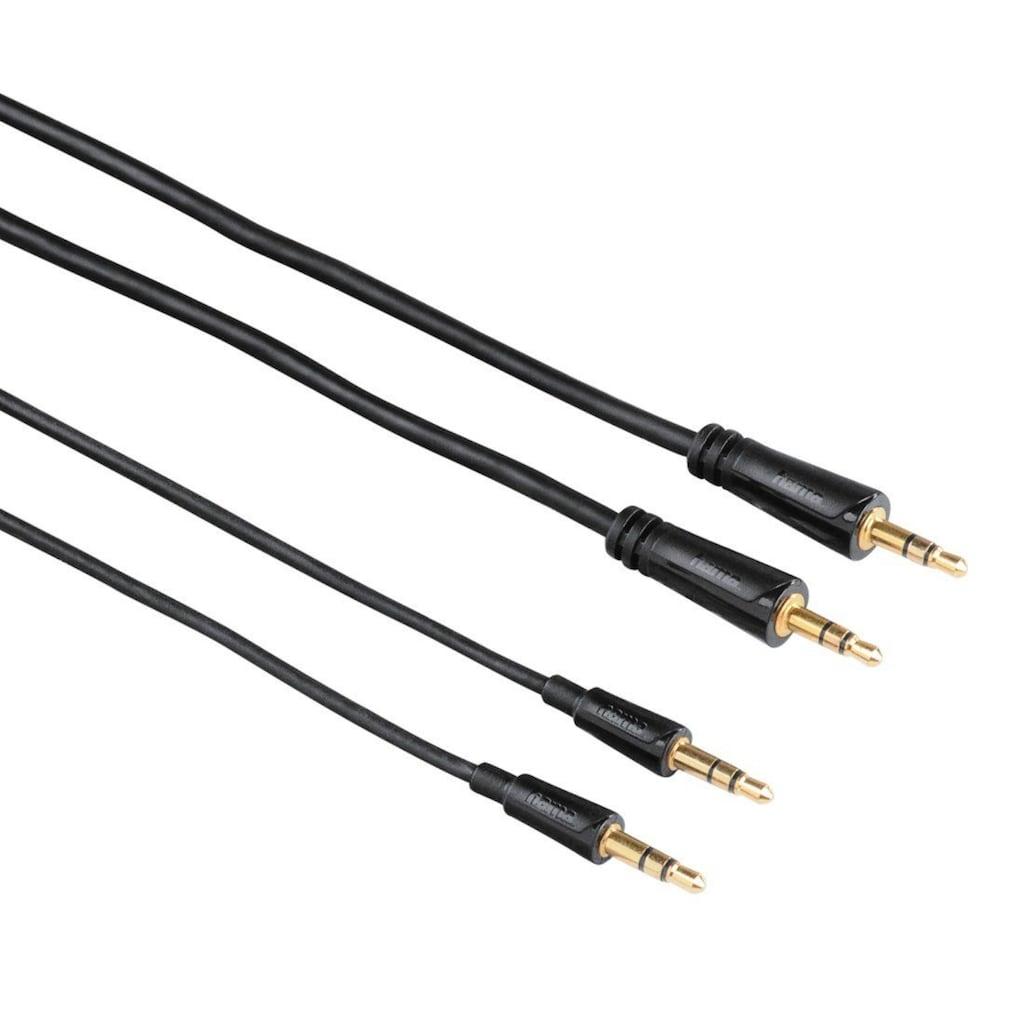 Hama Audio-Kabel, 3,5-mm-Klinken-Stecker - Stecker, Stereo, 0,5m