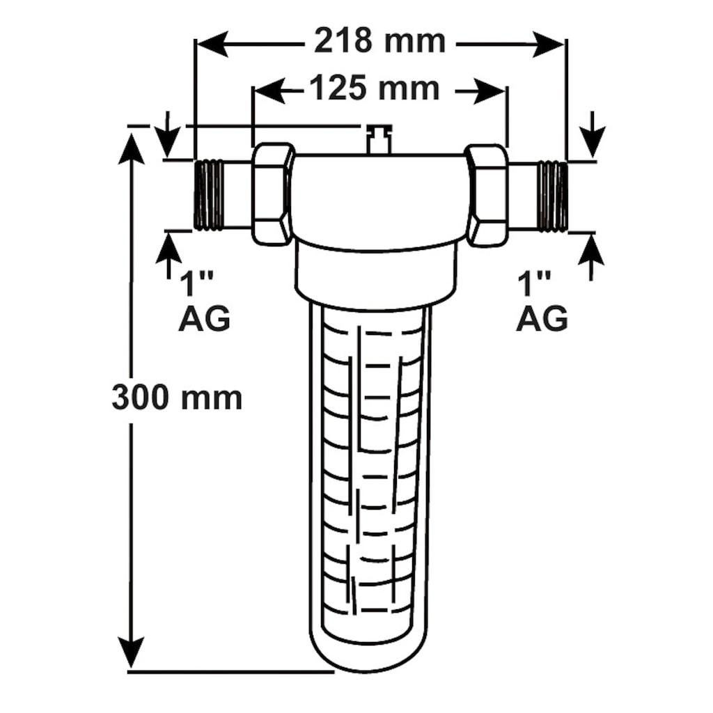 """CORNAT Wasserfilter, Standardfilter 1"""" mit Verschraubung"""