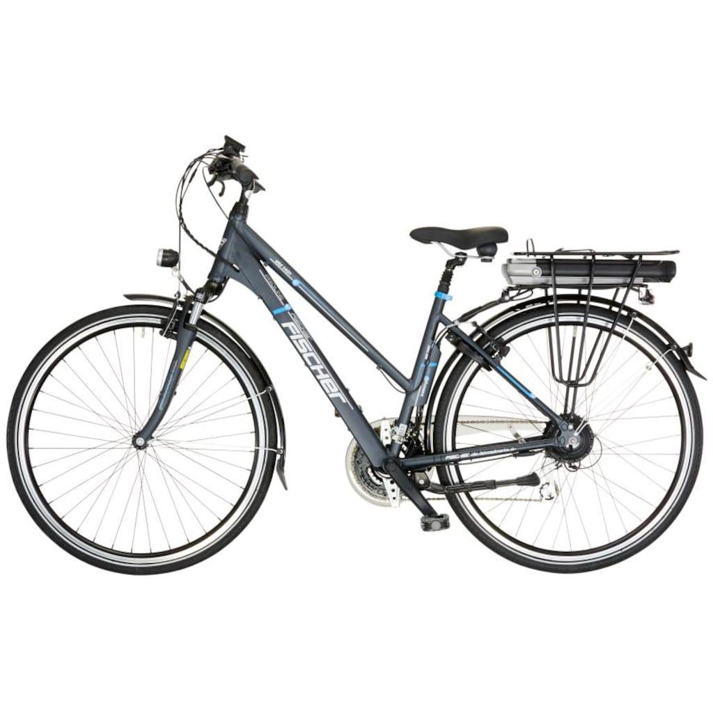 FISCHER Fahrräder E-Bike »ETD 1401«, 24 Gang, Shimano, Acera, Heckmotor 250 W