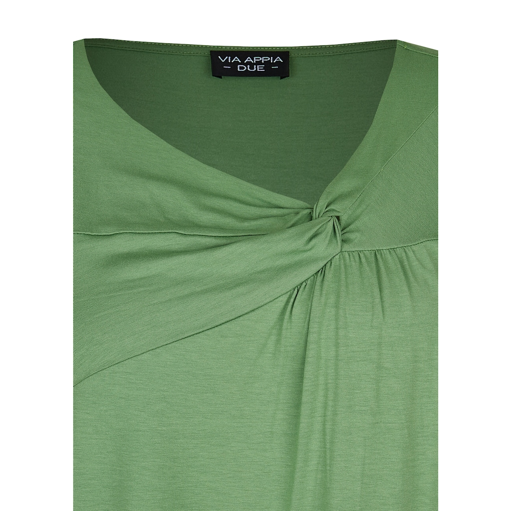 VIA APPIA DUE T-Shirt, mit unifarbenem Stoff