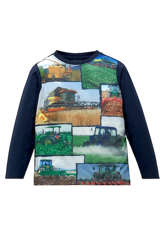Arizona Langarmshirt »Fotodruck mit Landmaschinen« kaufen