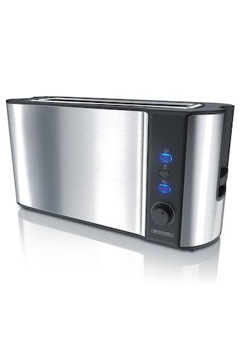 Arendo Automatik 2 Scheiben Langschlitz Toaster im Edelstahl Design kaufen