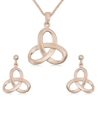 Firetti Ohrring und Ketten Set »Knoten in glänzender Optik, vergoldet, massiv« kaufen