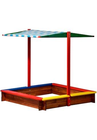 dobar Sandkasten, BxLxH: 120x120x125 cm, mit Dach kaufen