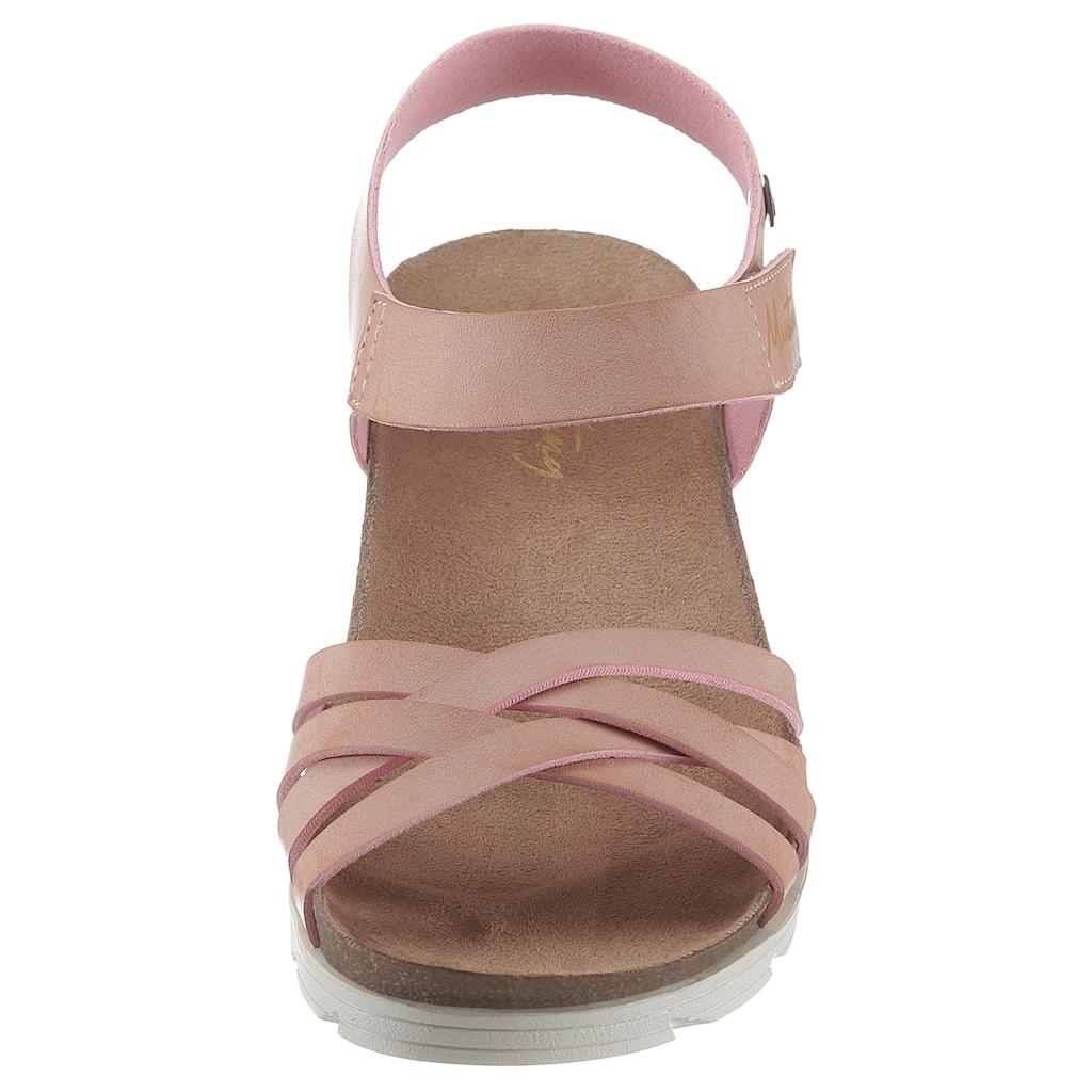 Mustang Shoes Sandale, mit Mustang Aufdruck