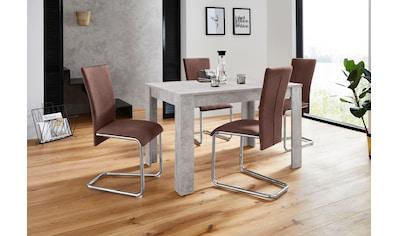 Homexperts Essgruppe »Nick2-Mulan«, (Set, 5 tlg.), mit 4 Stühlen, Tisch in... kaufen