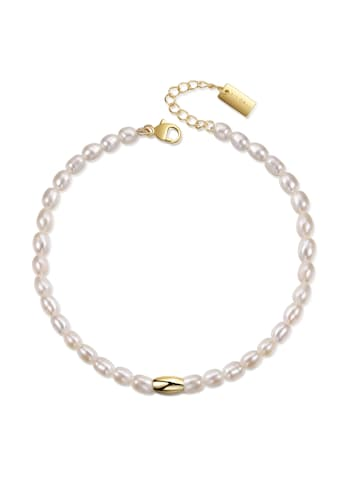 AILORIA Armband »SANGO gold/weiße Perle«, 925 Sterling Silber vergoldet Süßwasserperle kaufen