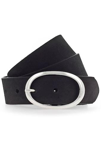 Vanzetti Ledergürtel, Tolles Design mit ovaler Dornschließe in Silber-Optik kaufen