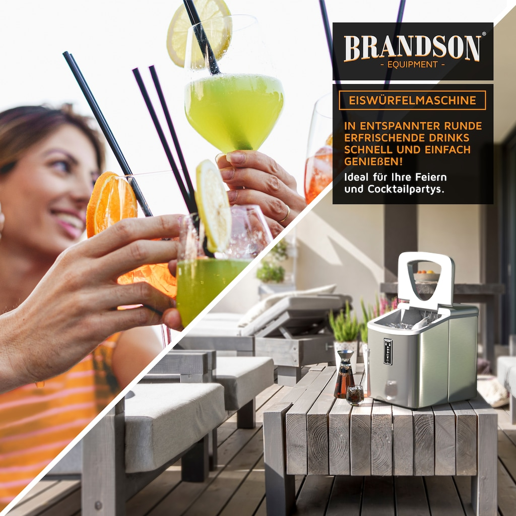 Brandson Eiswürfelmaschine »Eiswürfelbereiter - 9 Eiswürfel in 11 Minuten«, 150 W – 3,4 Liter