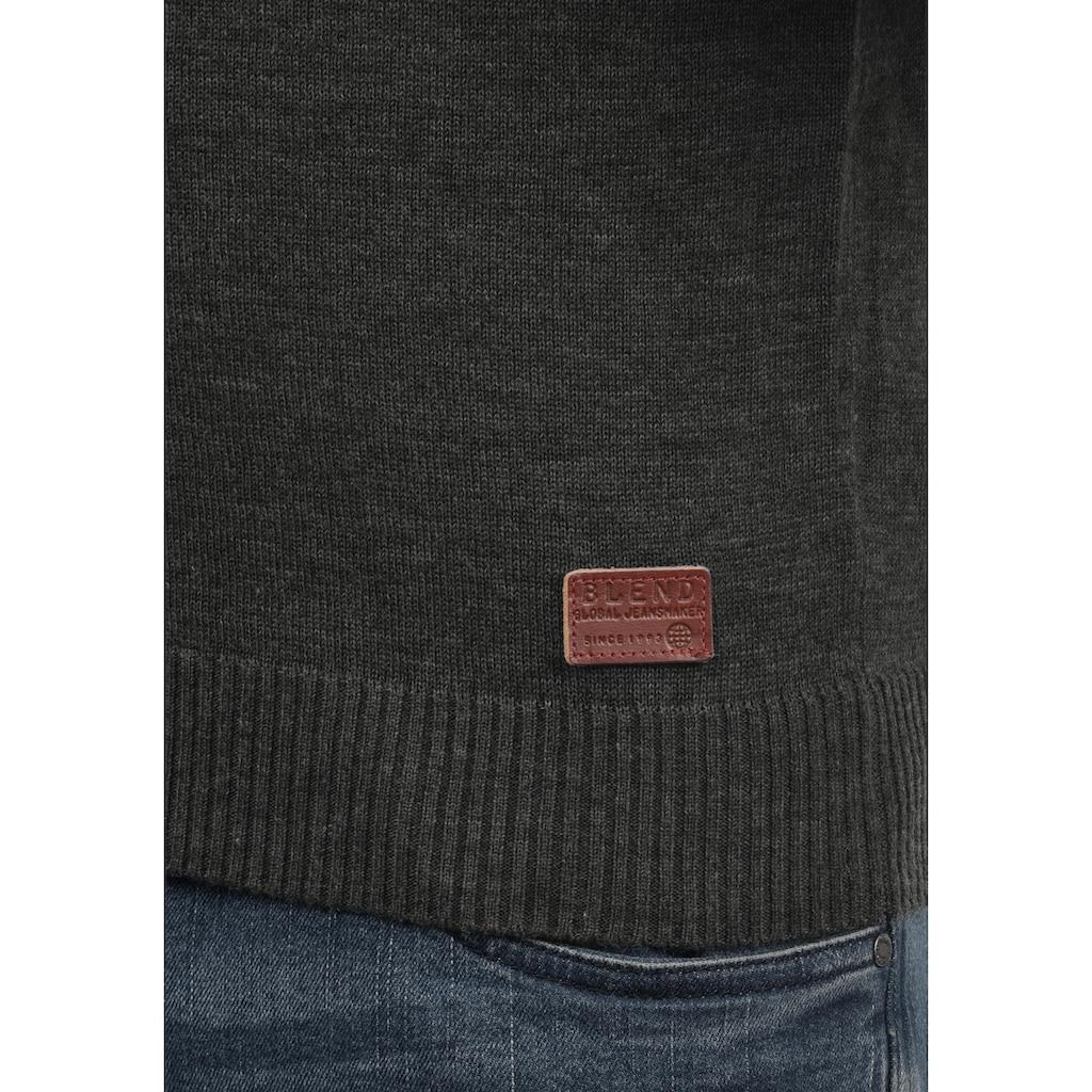 Blend Strickpullover »Lars«, Strickpulli mit aufgestickten Ellenbogenpatches