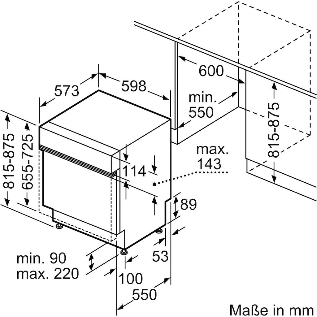SIEMENS teilintegrierbarer Geschirrspüler »SN53HS60AE«, iQ300, SN53HS60AE, 13 Maßgedecke