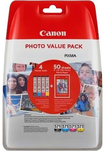 Canon Tintenpatrone »CLI-571XL C/M/Y/BK + Foto Papier« kaufen