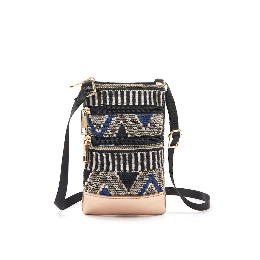 LASCANA Umhängetasche, Minibag, Handytasche zum Umhängen im modischen Ethno Look