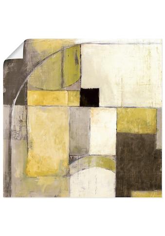 Artland Wandbild »Gelb-Grauer Übergang«, Muster, (1 St.), in vielen Größen &... kaufen